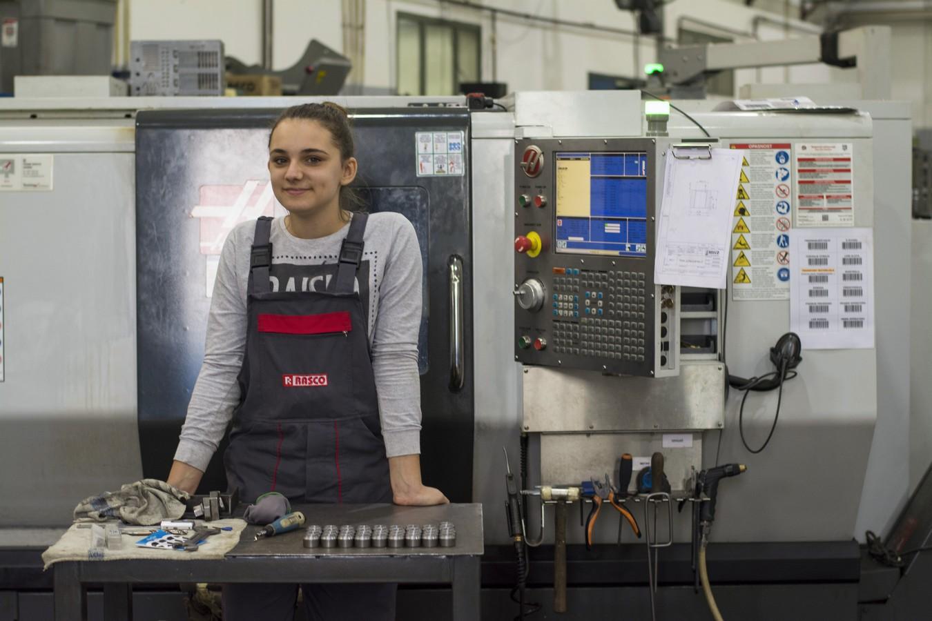 The first female CNC operator in RASCO