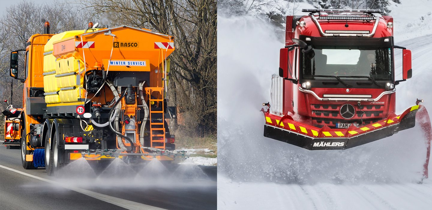RASCO spreaders and Mählers snow ploughs – a winning combination for the Norwegian and Swedish roads