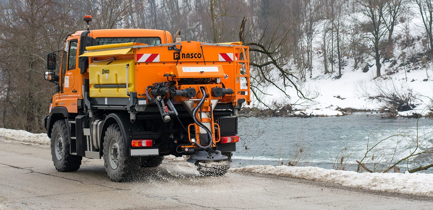 Hard terrain winter maintenance featuring RASCO and Unimog